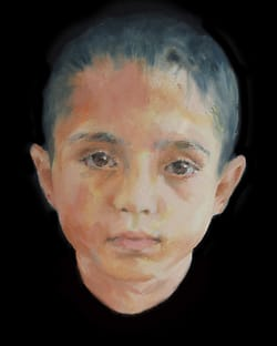 Oilpainting boy ZT-201902.part of project Cyclus