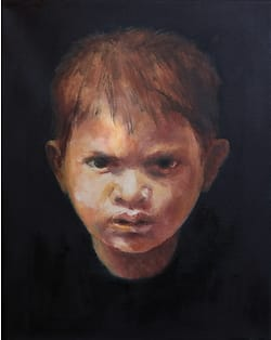 Oilpainting boy ZT-201903 part of project Cyclus